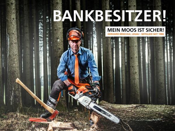 Bankbesitzer - Waldarbeiter