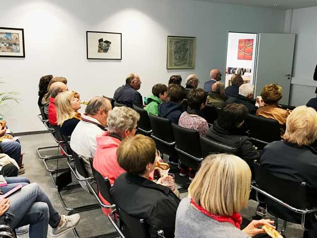 Publikum beim Vortrag