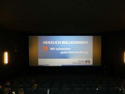 Begruessung - Kinoevent