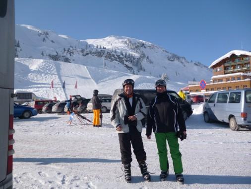 Teilnehmer des ersten Ski- und Snowbaordtags