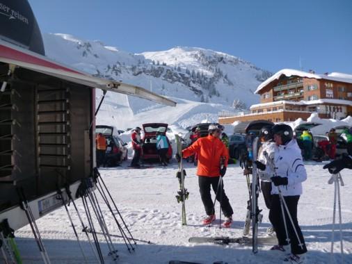 Mittagspause beim Ski fahren