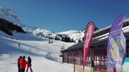 An der Skihütte in Warth-Schröcken