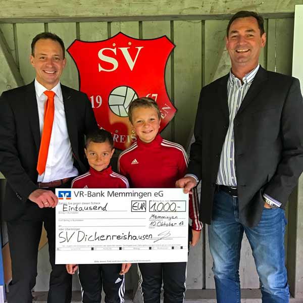 Spendenübergabe SV Dickenreishausen