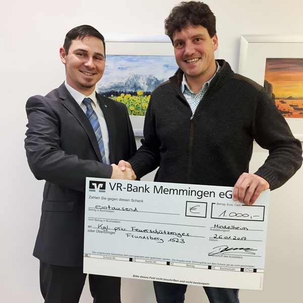 Spendenübergabe Schützenverein Mindelheim