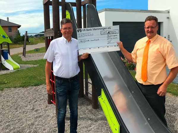 Spendenübergabe Gemeinde Lautrach