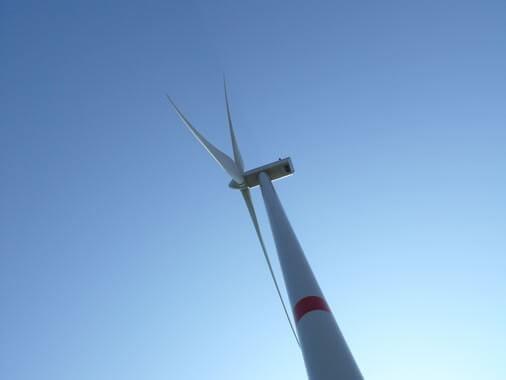 """""""Blick nach oben"""" - Windkraftanlge Lohberg"""
