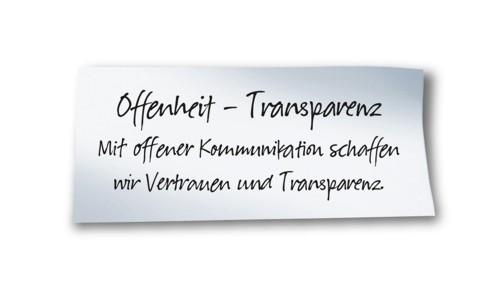 Offenheit - Transparenz